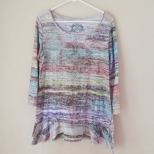 🔴V Cristina  XL knit top beaded bling cross